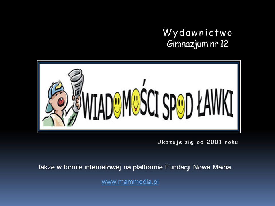 Wydawnictwo Gimnazjum nr 12