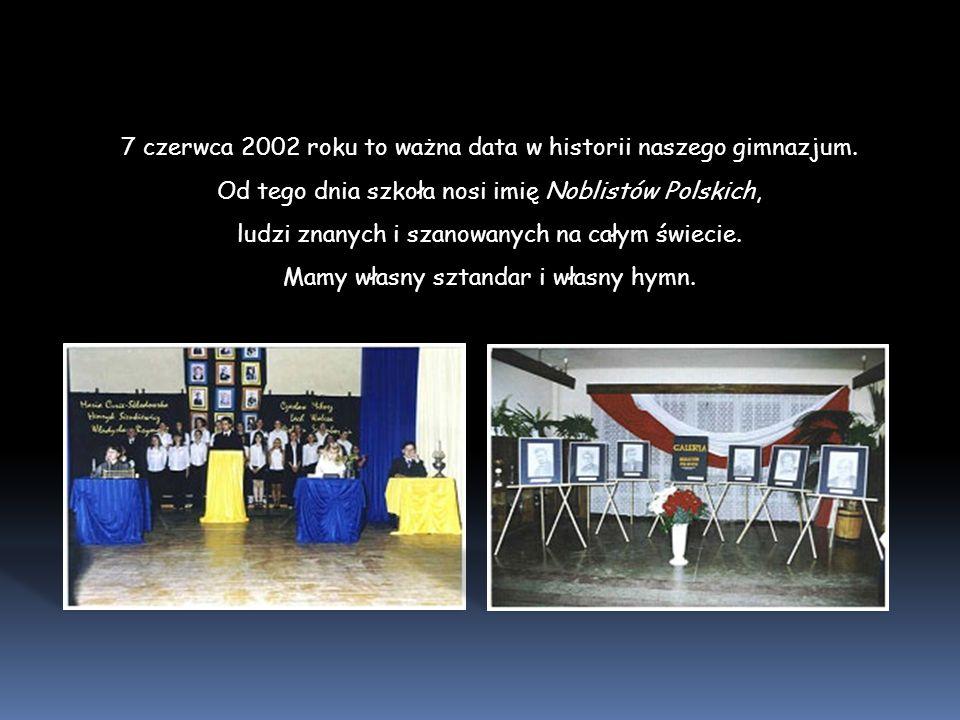 7 czerwca 2002 roku to ważna data w historii naszego gimnazjum