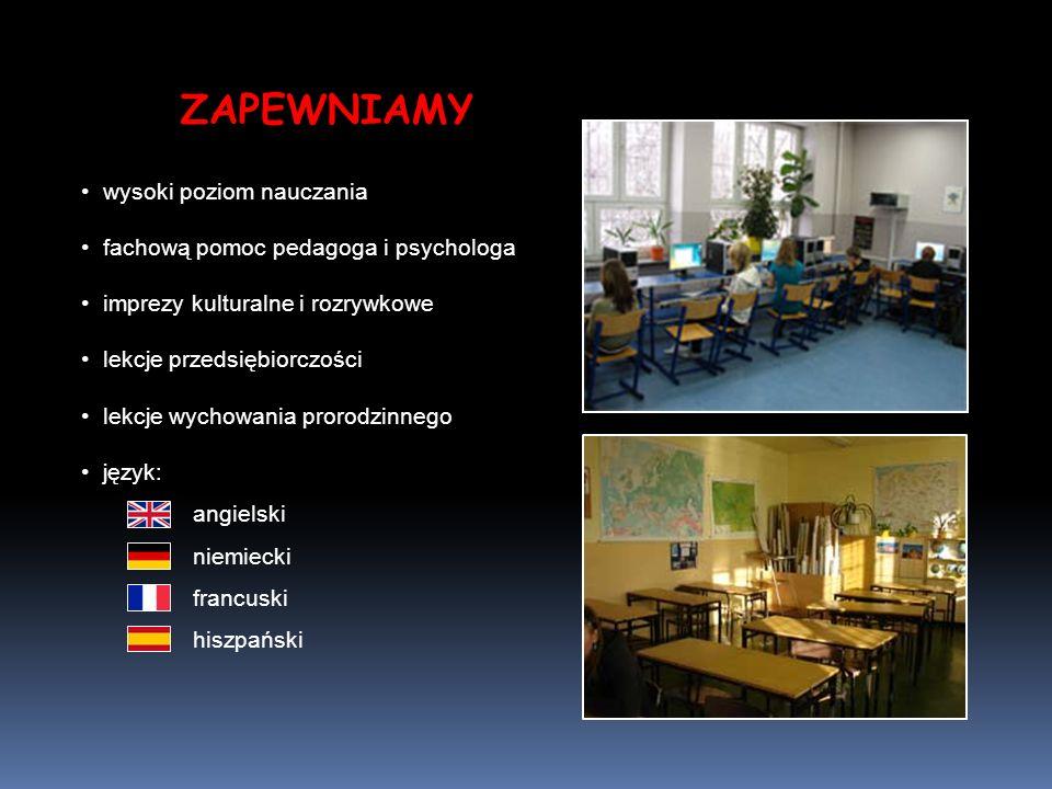 ZAPEWNIAMY wysoki poziom nauczania fachową pomoc pedagoga i psychologa