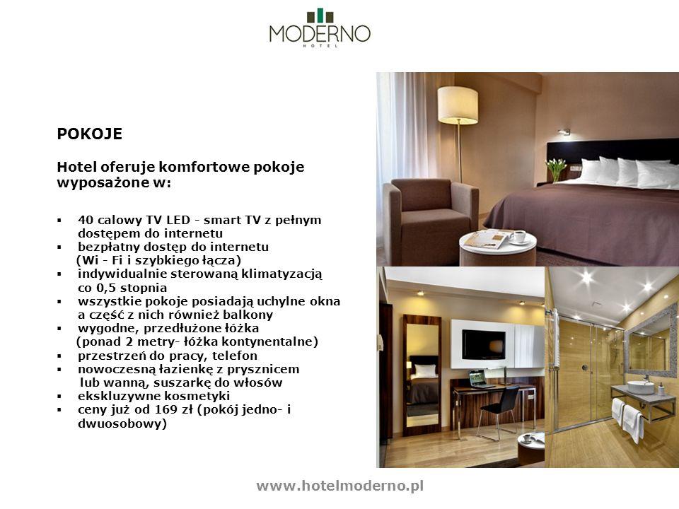 POKOJE Hotel oferuje komfortowe pokoje wyposażone w: