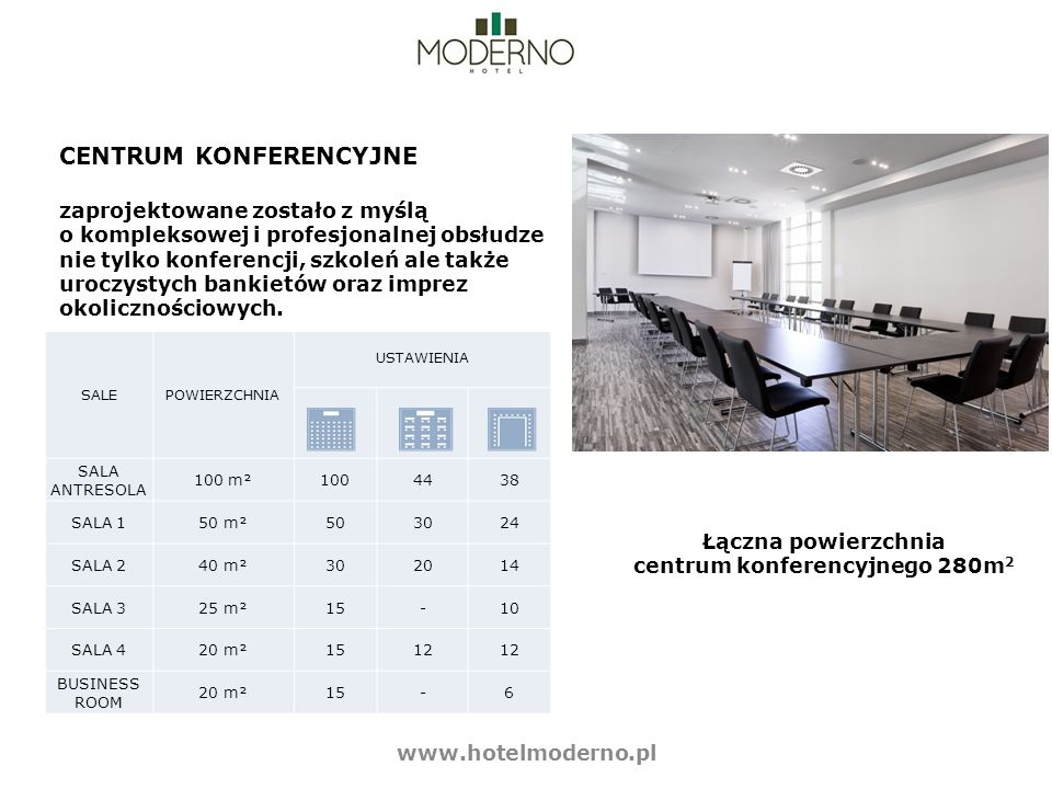 centrum konferencyjnego 280m2