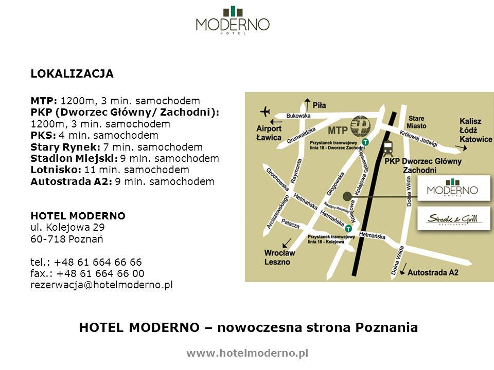 HOTEL MODERNO – nowoczesna strona Poznania