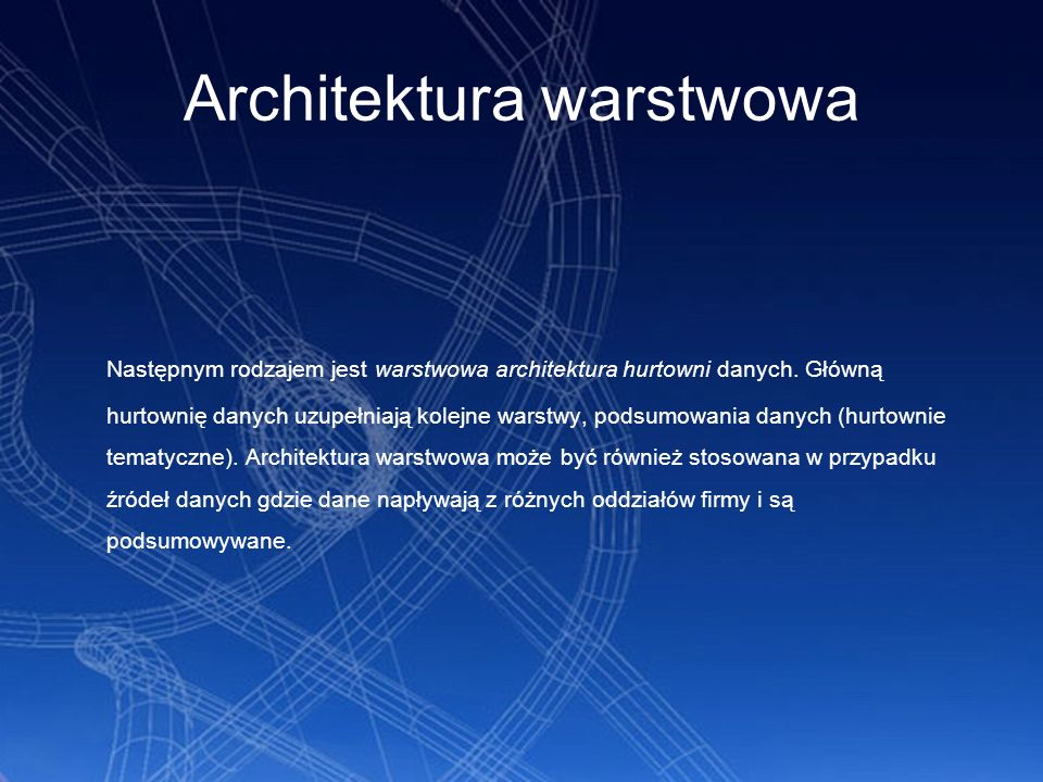 Architektura warstwowa