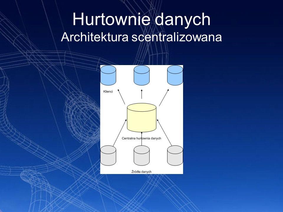 Hurtownie danych Architektura scentralizowana