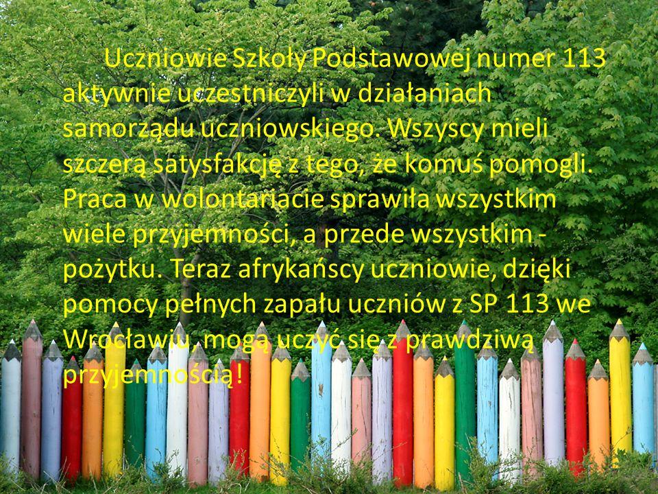 Uczniowie Szkoły Podstawowej numer 113 aktywnie uczestniczyli w działaniach samorządu uczniowskiego.