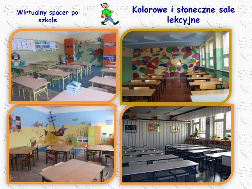 Kolorowe i słoneczne sale lekcyjne Wirtualny spacer po szkole