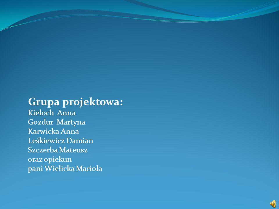 Grupa projektowa: Kieloch Anna Gozdur Martyna Karwicka Anna