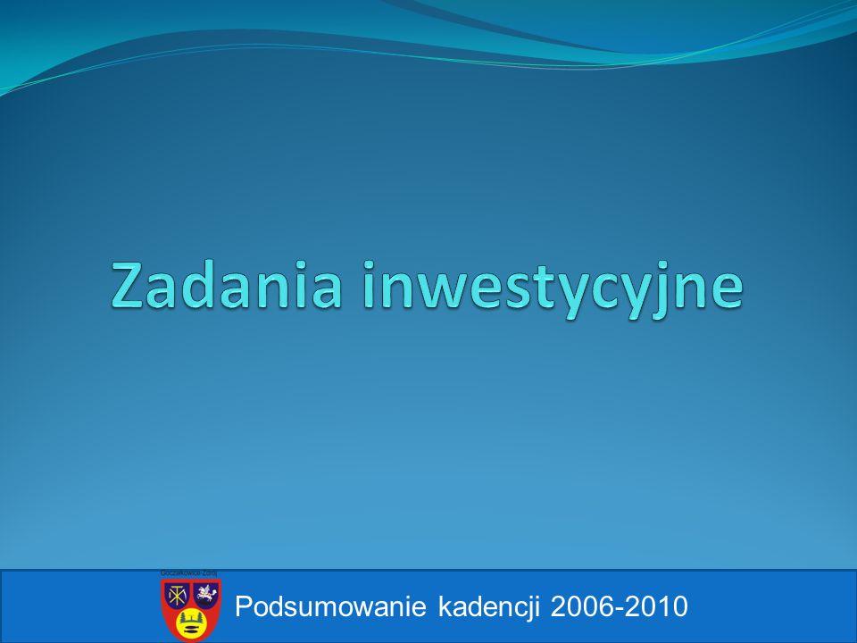 Zadania inwestycyjne Podsumowanie kadencji 2006-2010