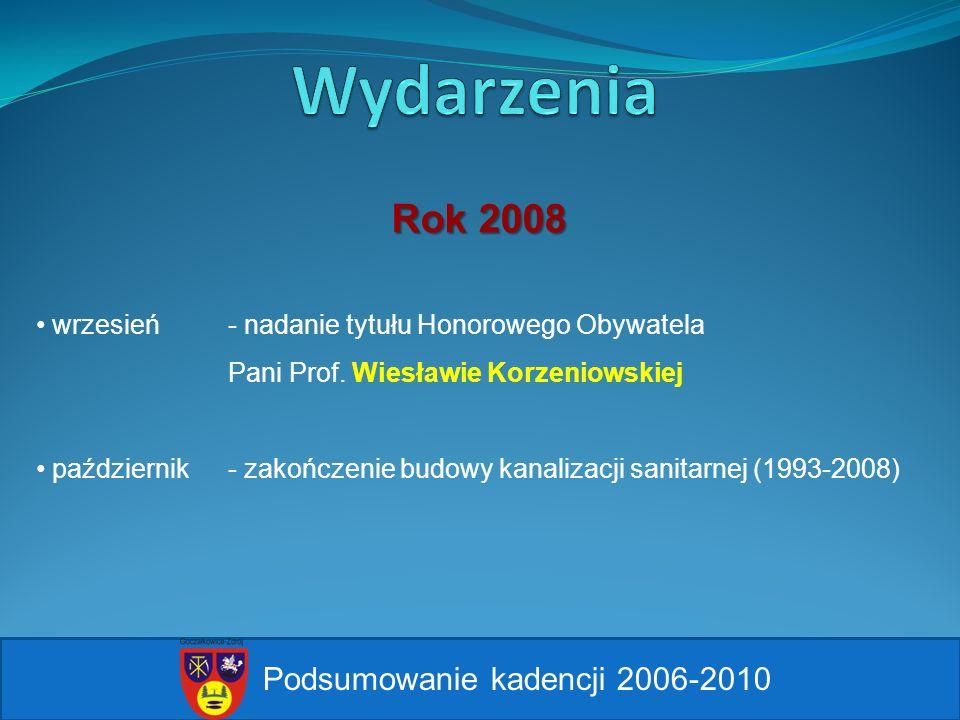 Wydarzenia Rok 2008 Podsumowanie kadencji 2006-2010