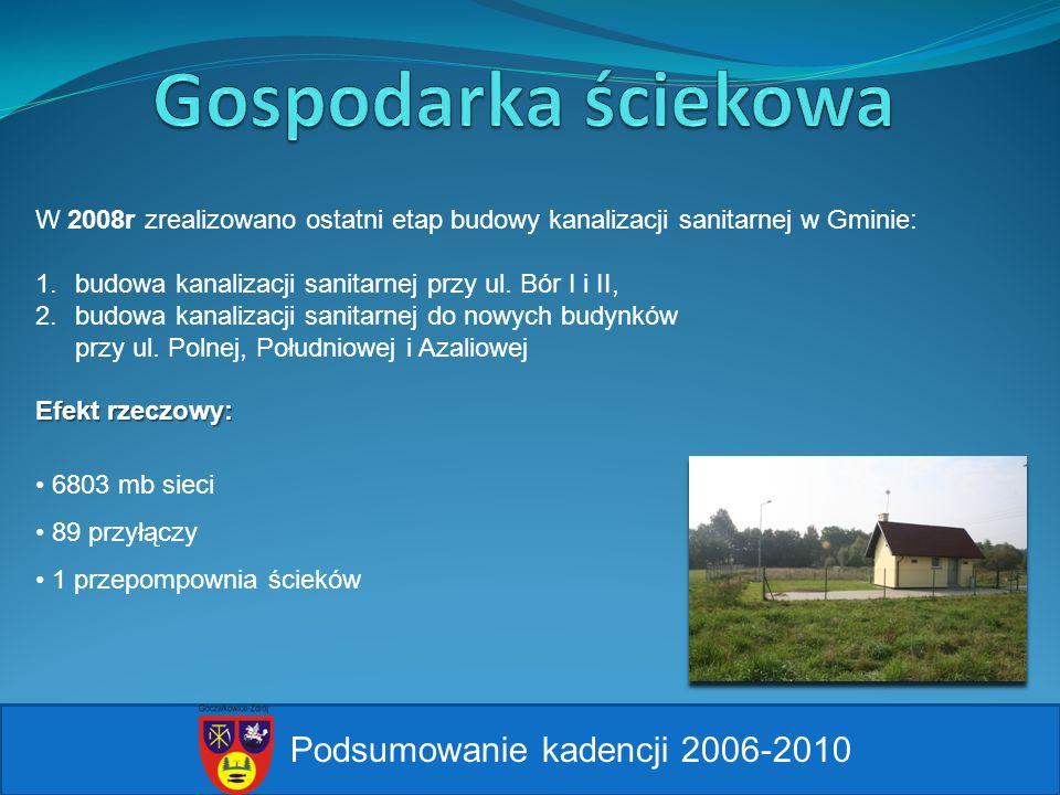 Gospodarka ściekowa Podsumowanie kadencji 2006-2010