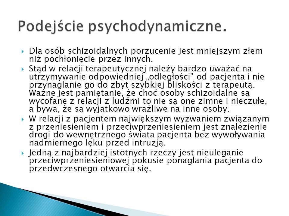 Podejście psychodynamiczne.