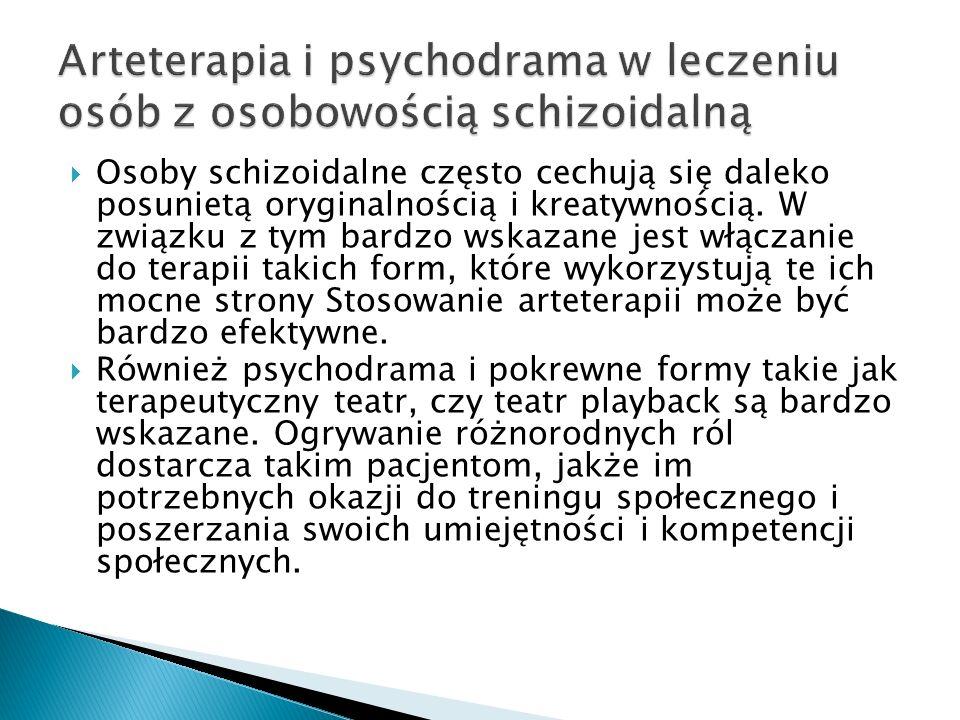 Arteterapia i psychodrama w leczeniu osób z osobowością schizoidalną