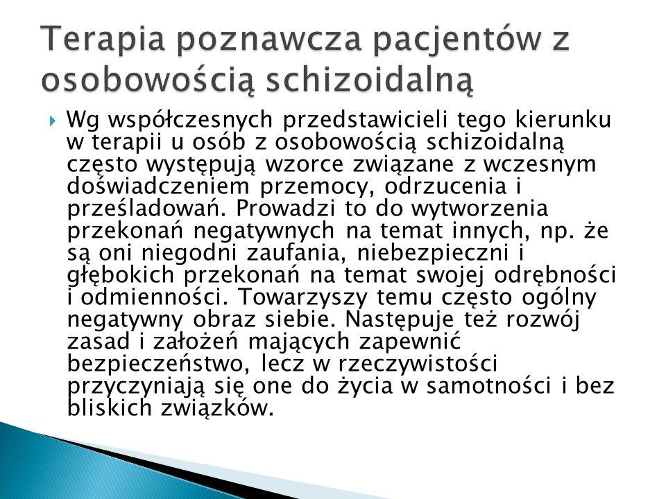 Terapia poznawcza pacjentów z osobowością schizoidalną