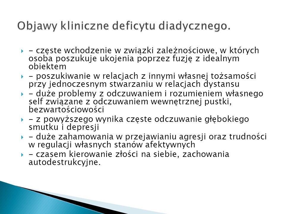 Objawy kliniczne deficytu diadycznego.