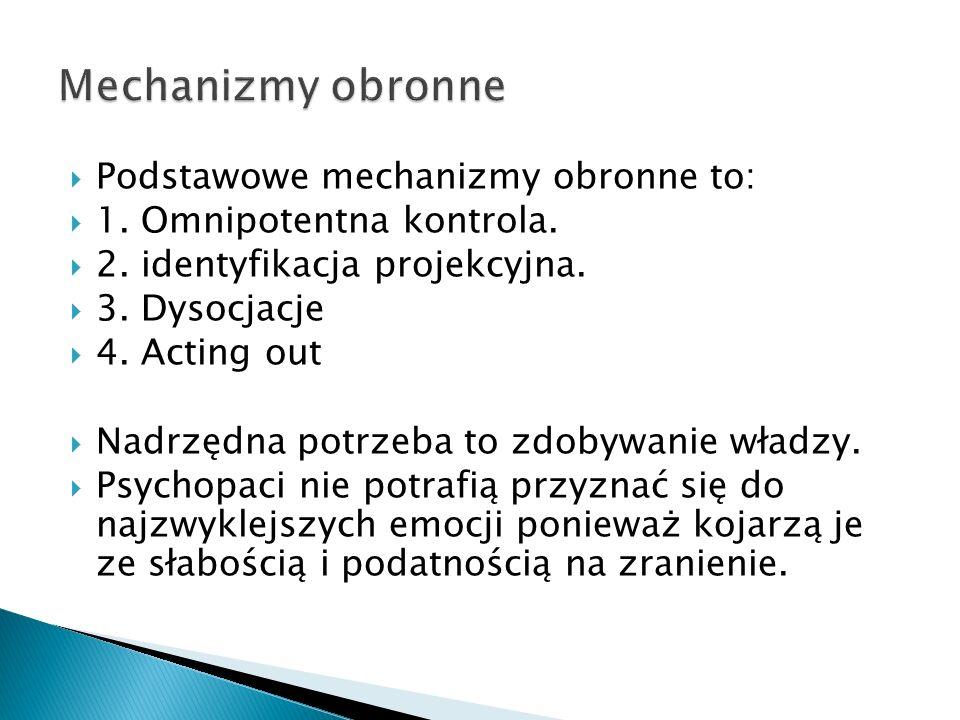 Mechanizmy obronne Podstawowe mechanizmy obronne to:
