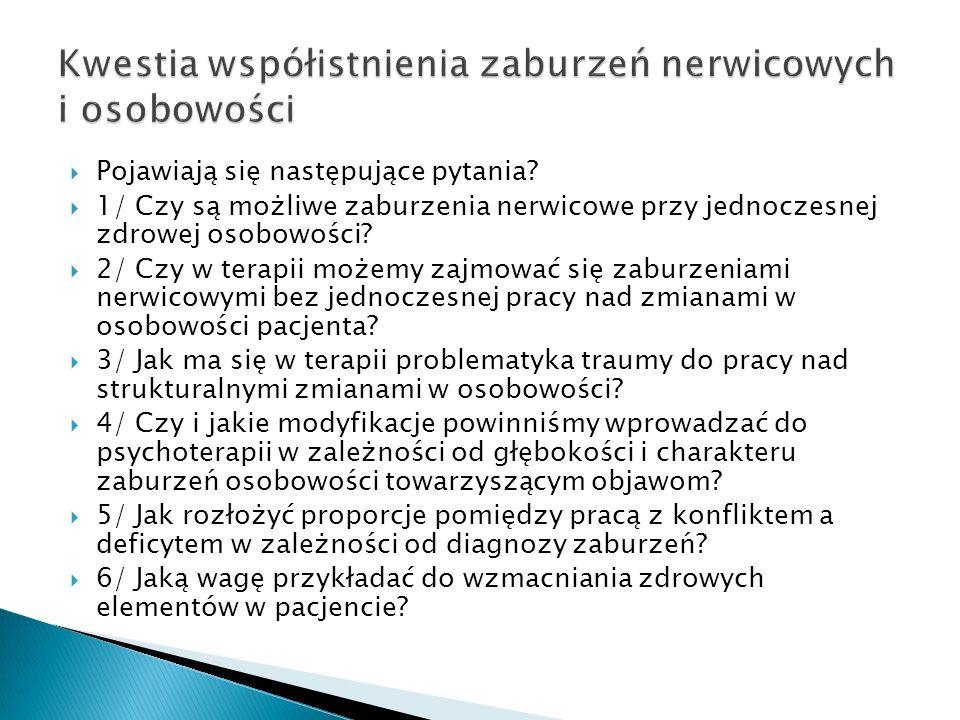 Kwestia współistnienia zaburzeń nerwicowych i osobowości