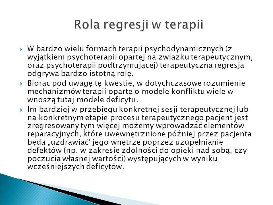 Rola regresji w terapii