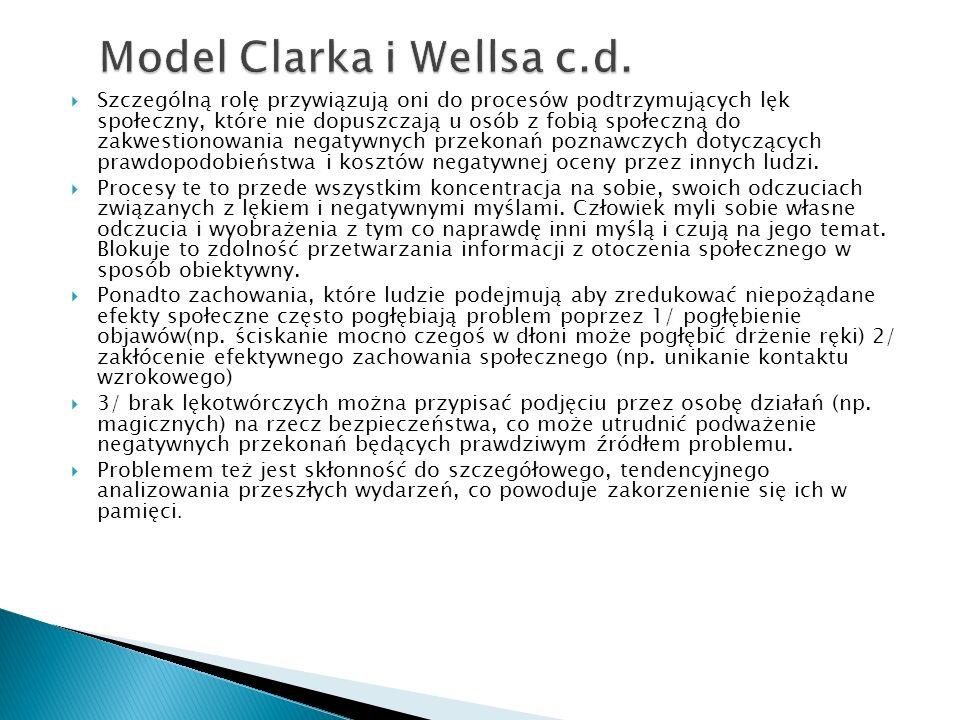 Model Clarka i Wellsa c.d.