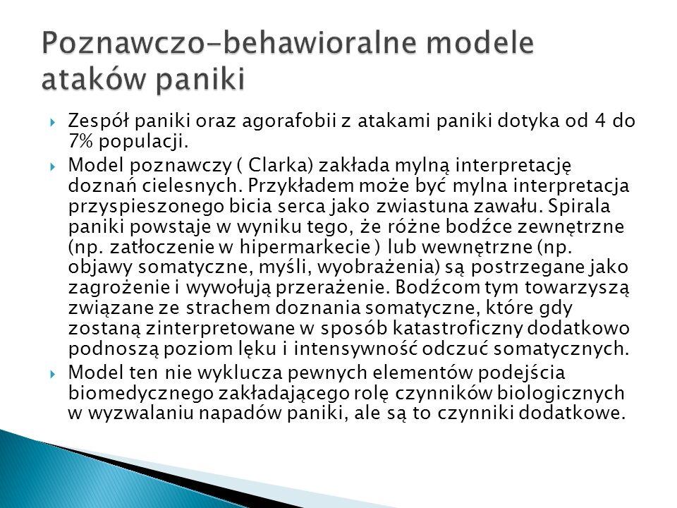 Poznawczo-behawioralne modele ataków paniki