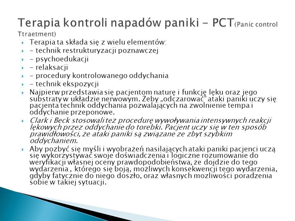 Terapia kontroli napadów paniki - PCT(Panic control Ttraetment)
