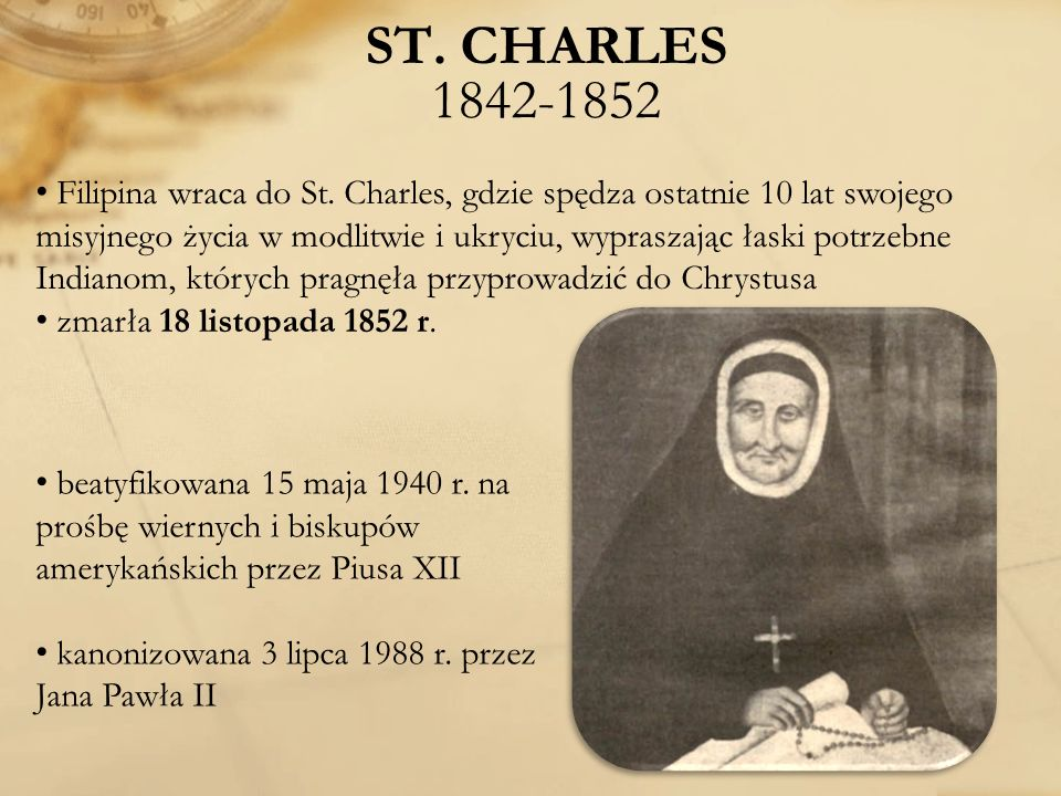 ST. CHARLES 1842-1852