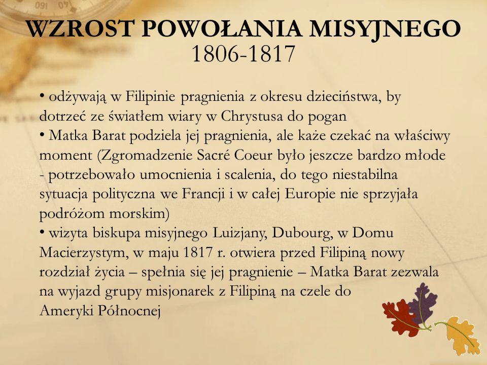 WZROST POWOŁANIA MISYJNEGO 1806-1817