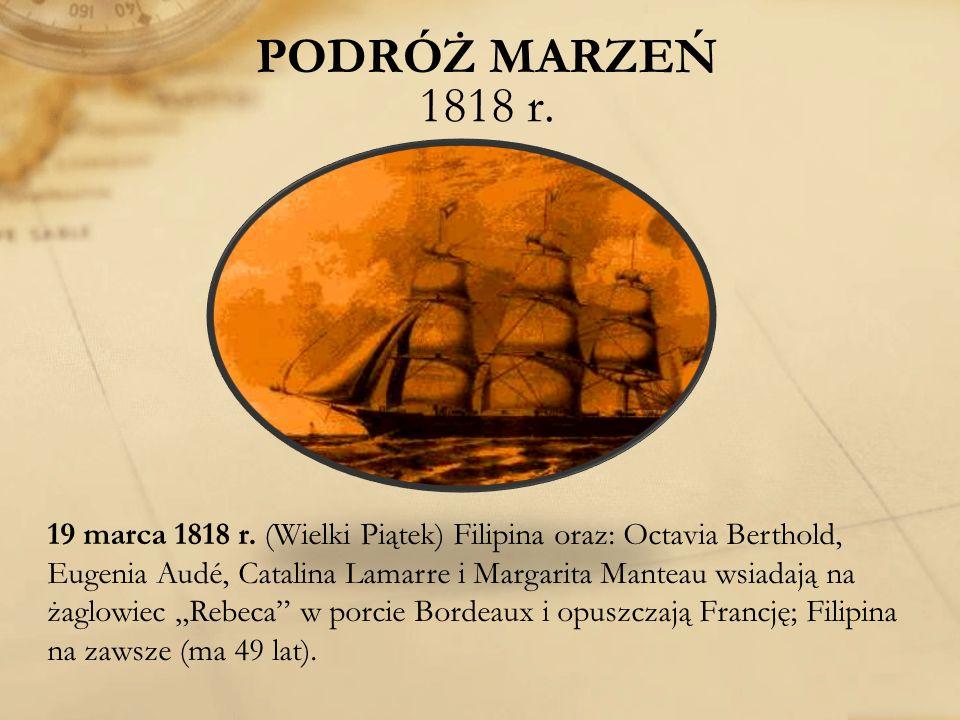 PODRÓŻ MARZEŃ 1818 r.