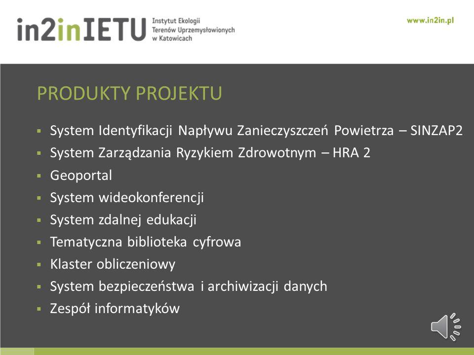 PRODUKTY PROJEKTU System Identyfikacji Napływu Zanieczyszczeń Powietrza – SINZAP2. System Zarządzania Ryzykiem Zdrowotnym – HRA 2.