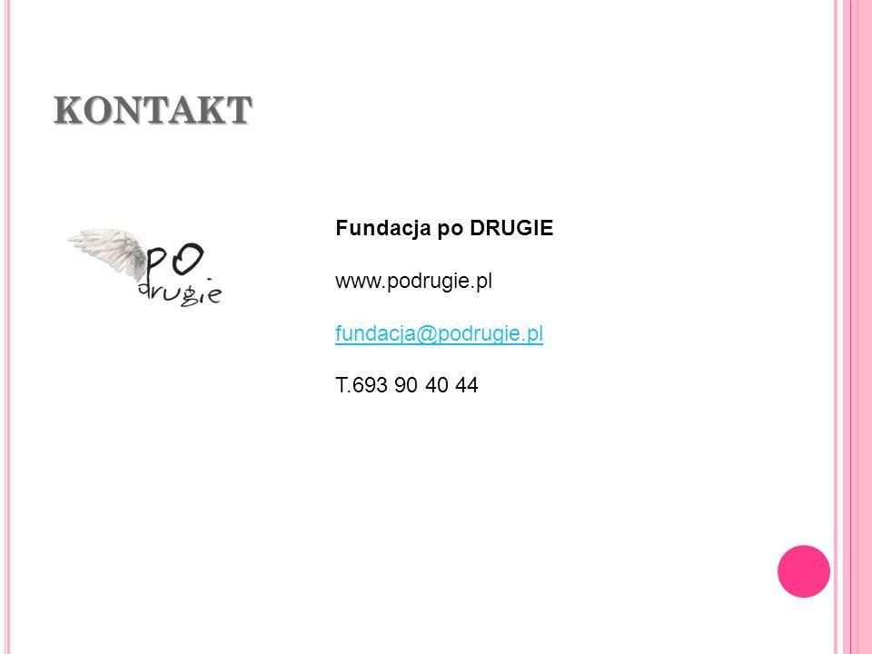 KONTAKT Fundacja po DRUGIE www.podrugie.pl fundacja@podrugie.pl
