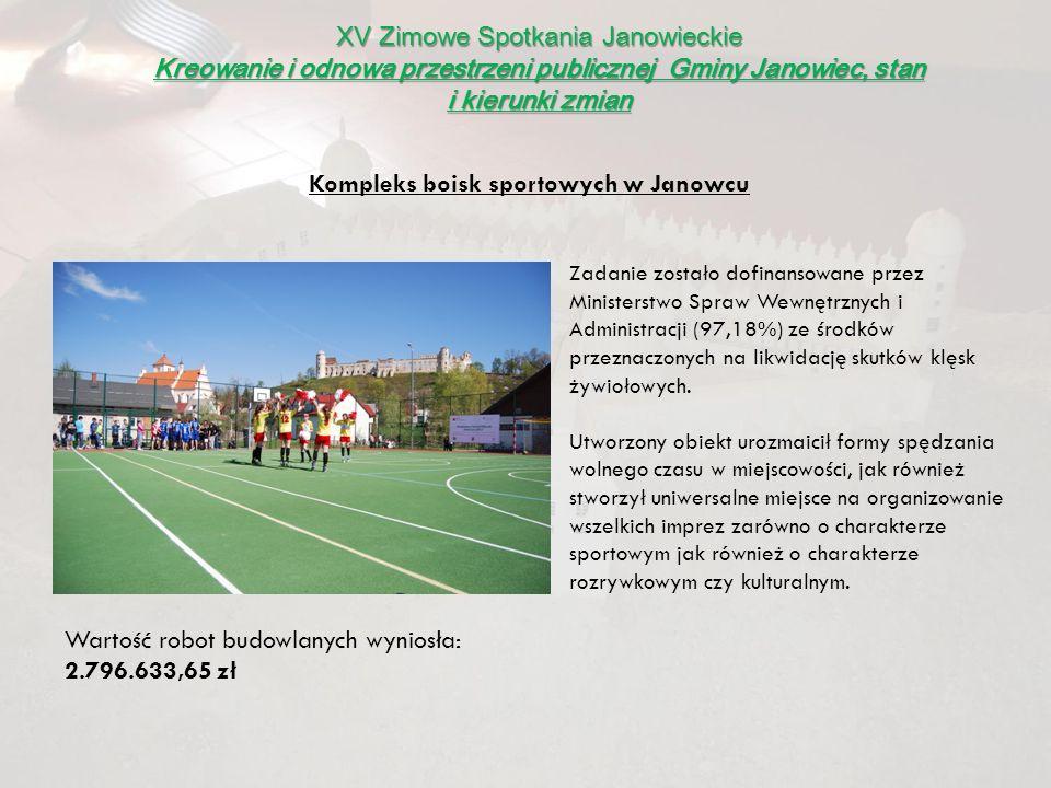 Kompleks boisk sportowych w Janowcu