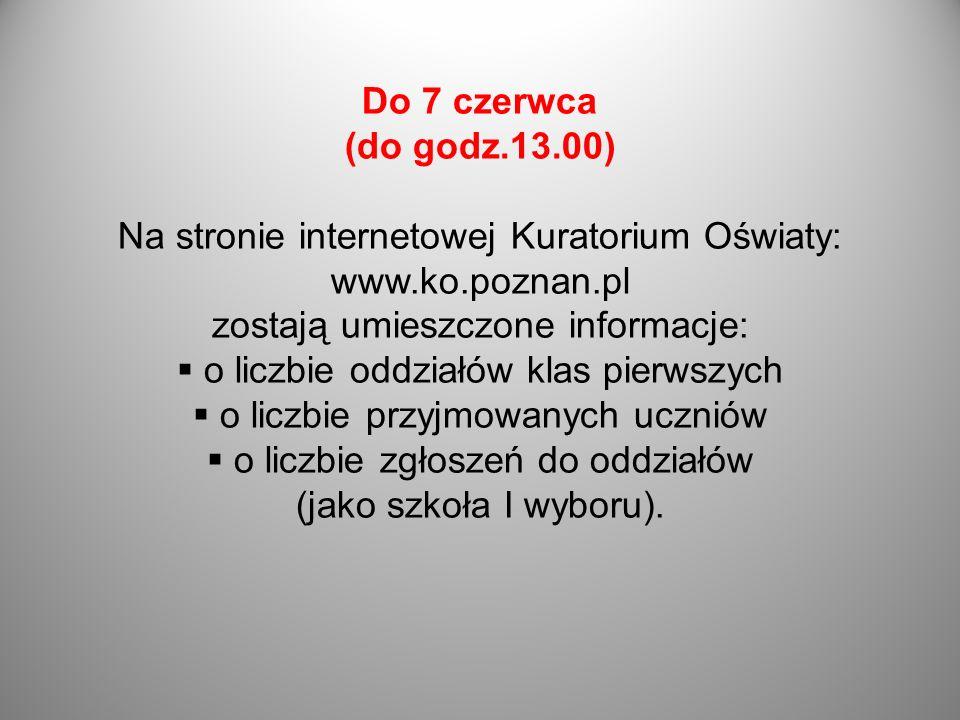 Na stronie internetowej Kuratorium Oświaty: www.ko.poznan.pl
