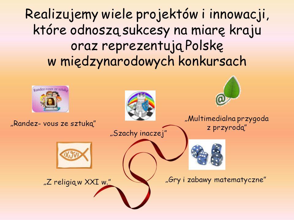 Realizujemy wiele projektów i innowacji, które odnoszą sukcesy na miarę kraju oraz reprezentują Polskę w międzynarodowych konkursach