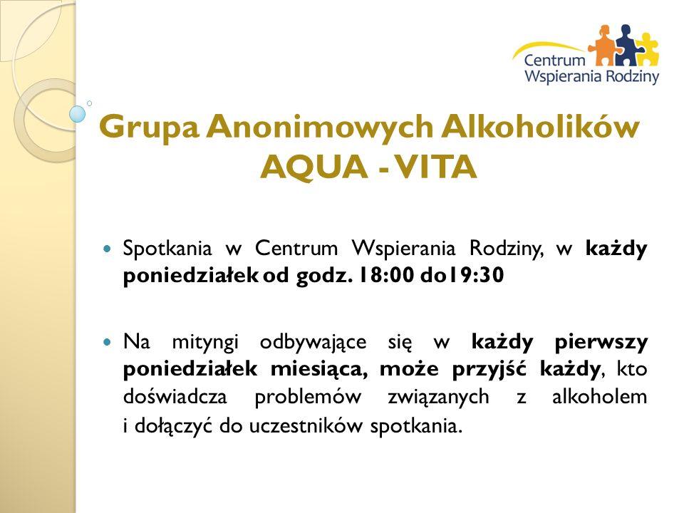 Grupa Anonimowych Alkoholików AQUA - VITA