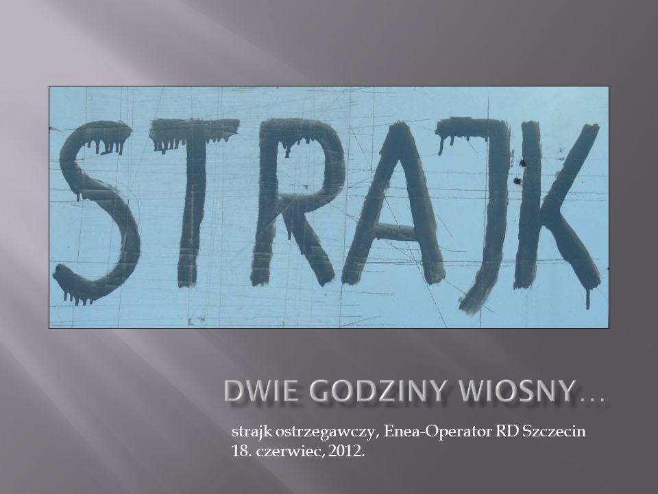 strajk ostrzegawczy, Enea-Operator RD Szczecin