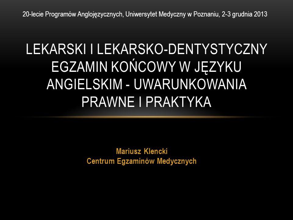 Mariusz Klencki Centrum Egzaminów Medycznych