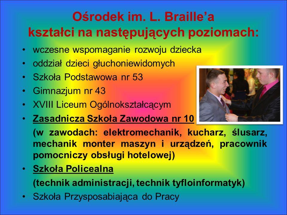 Ośrodek im. L. Braille'a kształci na następujących poziomach: