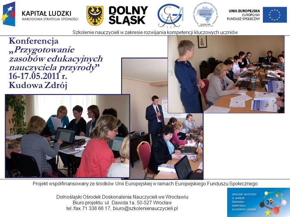 """Konferencja """"Przygotowanie zasobów edukacyjnych nauczyciela przyrody"""