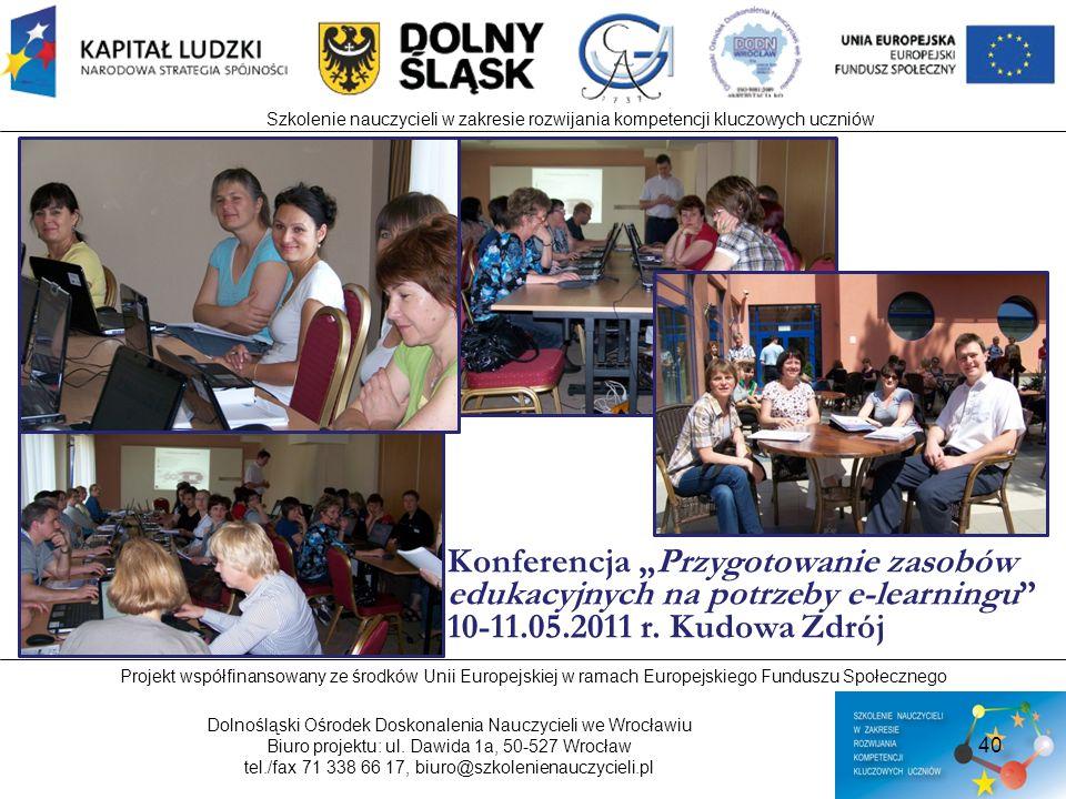 Szkolenie nauczycieli w zakresie rozwijania kompetencji kluczowych uczniów