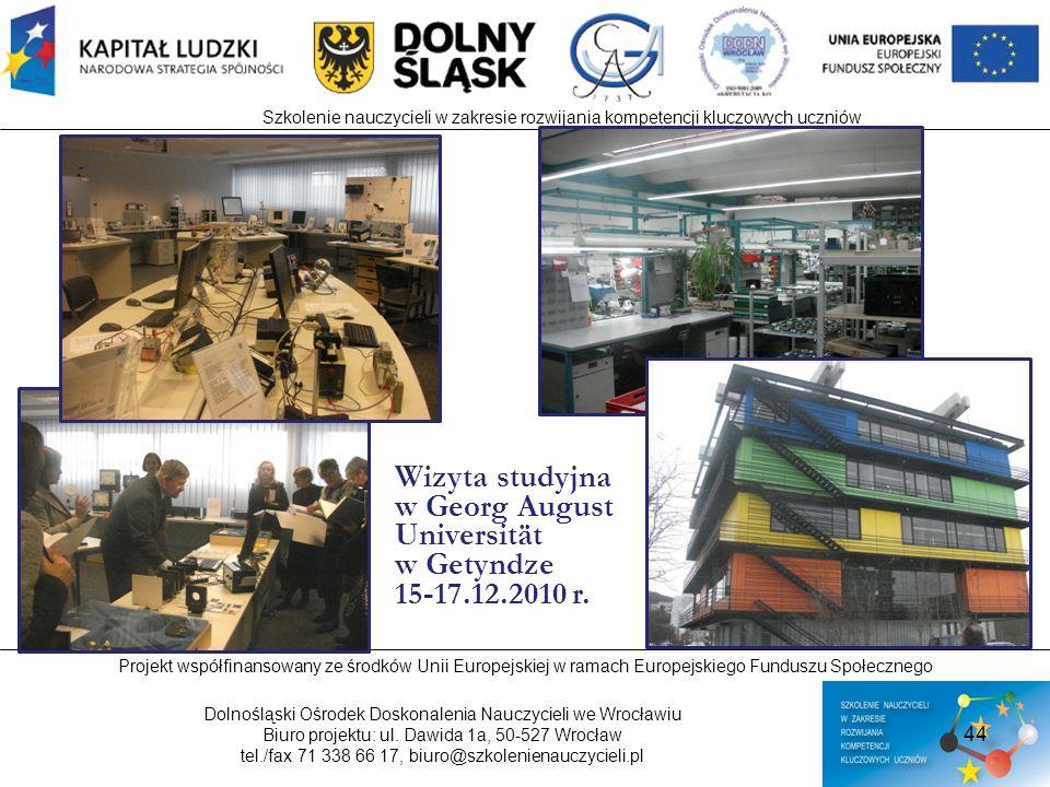 Wizyta studyjna w Georg August Universität w Getyndze 15-17.12.2010 r.