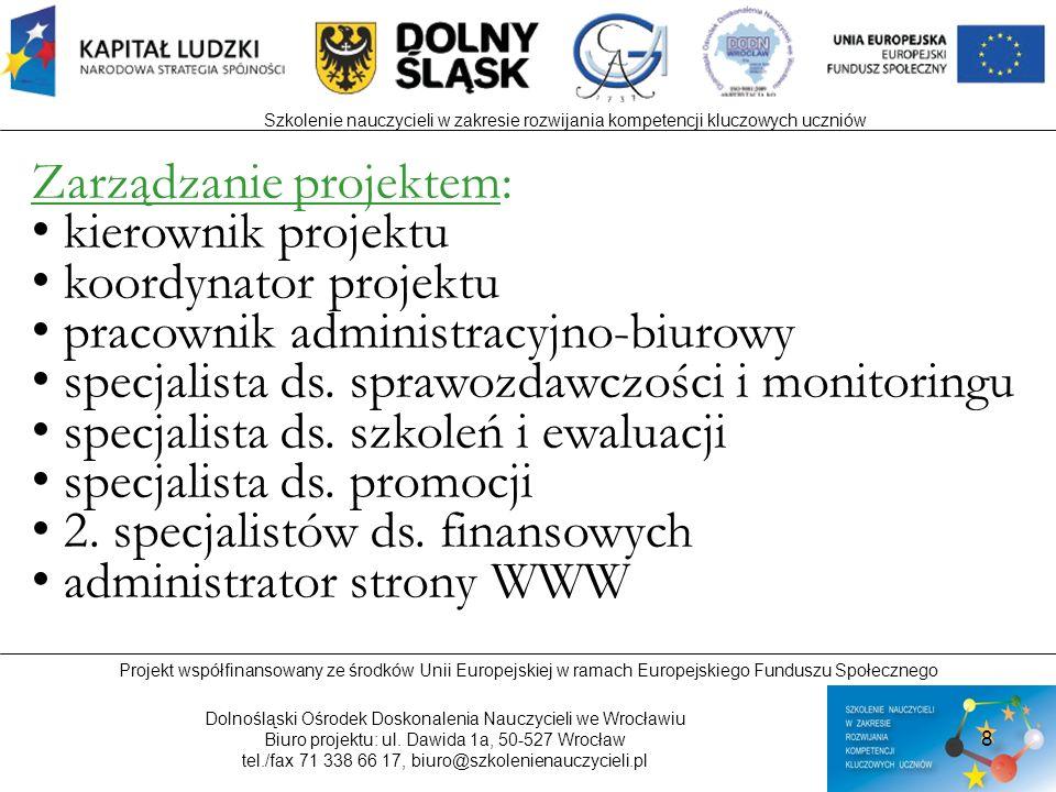 Zarządzanie projektem: kierownik projektu koordynator projektu