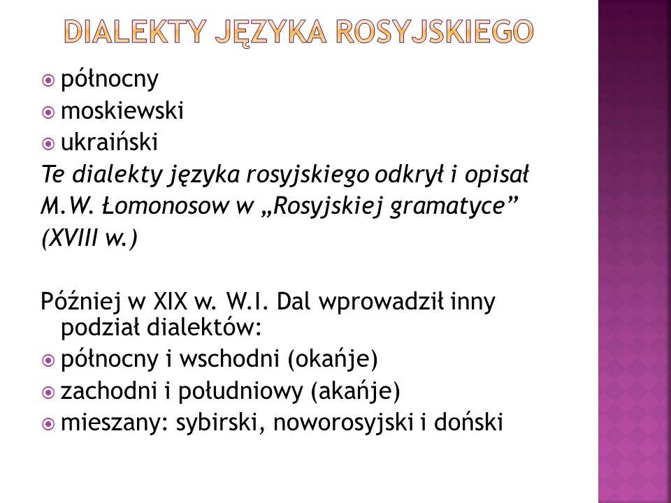 Dialekty języka rosyjskiego