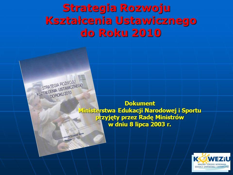 Strategia Rozwoju Kształcenia Ustawicznego do Roku 2010