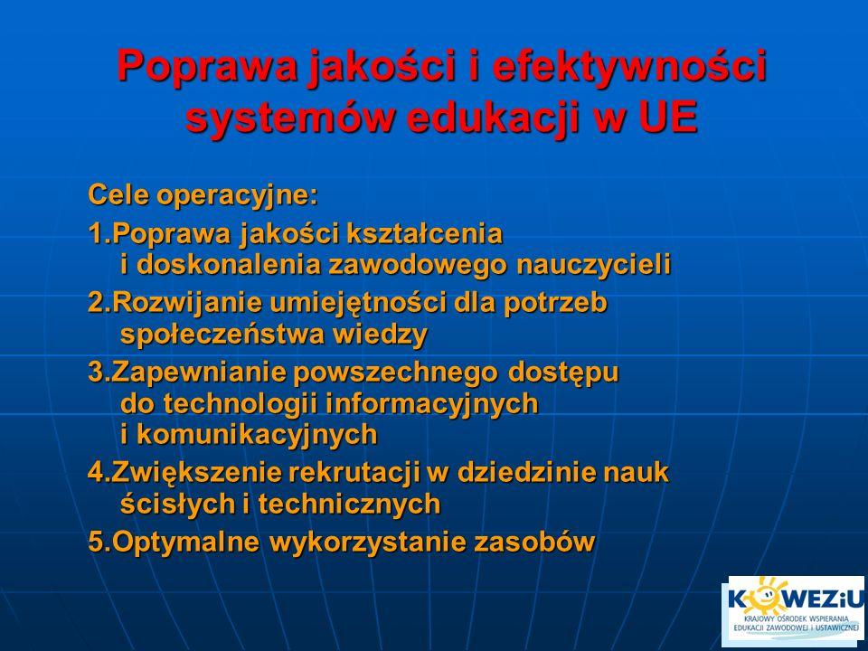 Poprawa jakości i efektywności systemów edukacji w UE