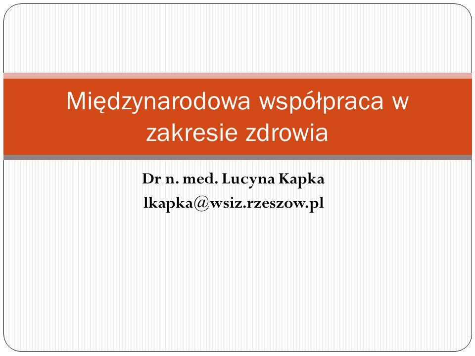 Międzynarodowa współpraca w zakresie zdrowia
