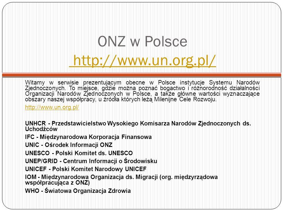 ONZ w Polsce http://www.un.org.pl/