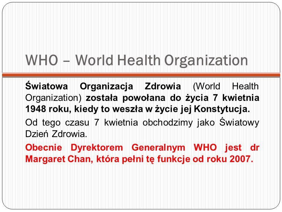 WHO – World Health Organization