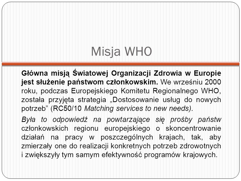 Misja WHO