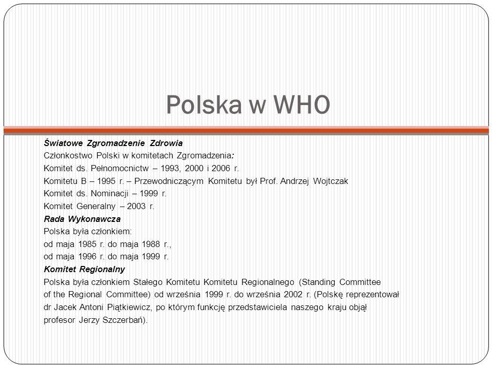 Polska w WHO Światowe Zgromadzenie Zdrowia