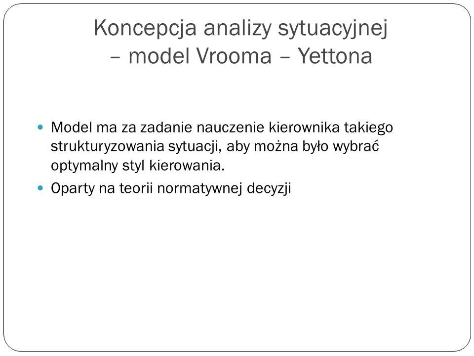 Koncepcja analizy sytuacyjnej – model Vrooma – Yettona