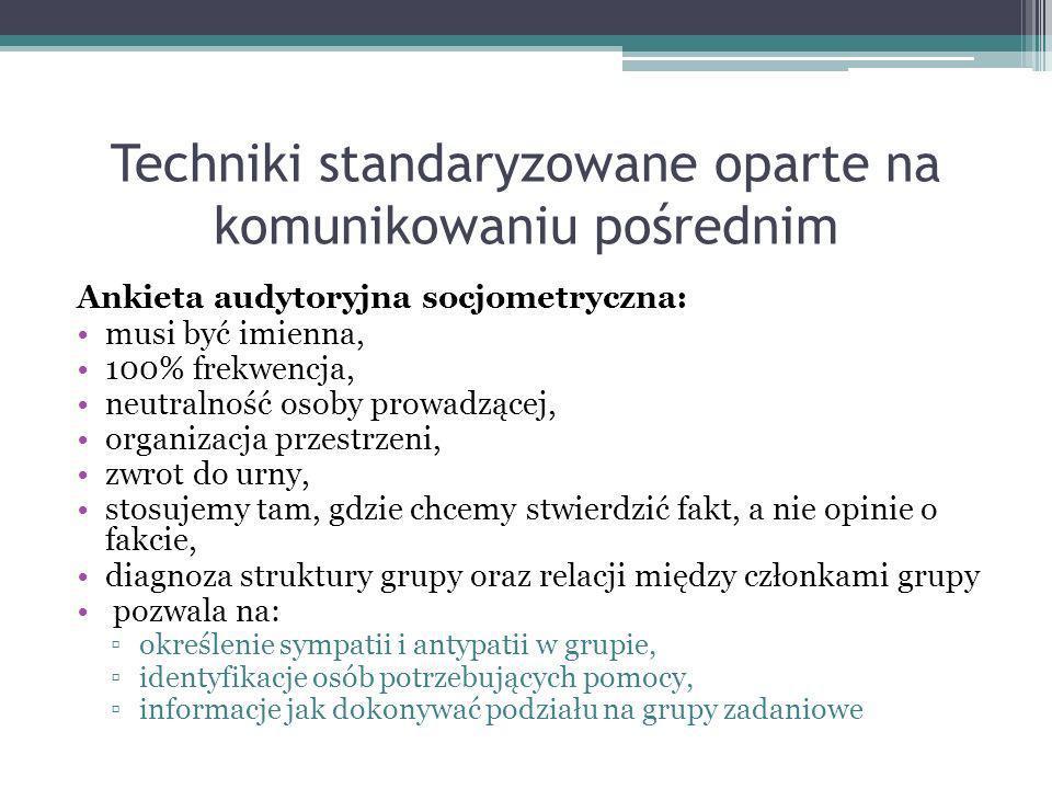 Techniki standaryzowane oparte na komunikowaniu pośrednim
